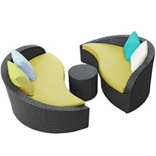 Magatama 3 Piece Lounge Seating Group with Cushions