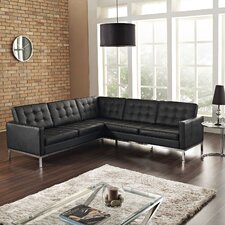 Loft Leather L Shaped Sectional Sofa