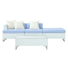 <strong>Modway</strong> Calabasas 4 Piece Deep Seating Group with Cushions