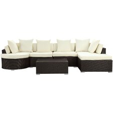 Montana 5 Piece Sectional Deep Seating Group with Cushions