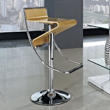 Zig-Zag Adjustable Height Swivel Bar Stool