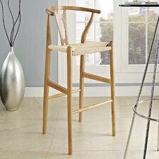 Hourglass Wood Bar Stool