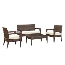 Stride 4 Piece Lounge Seating Group with Cushions