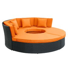 Pursuit Circular 5 Piece Sectional Daybed Seating Group with Cushions