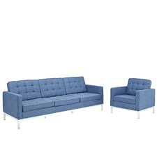 Loft 2 Piece Arm Chair and Sofa Set