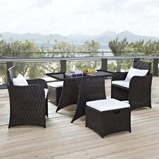 <strong>Modway</strong> Artesia 5 Piece Deep Seating Group with Cushions