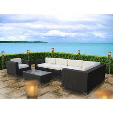 Corona 7 Piece Sectional Deep Seating Group with Cushions
