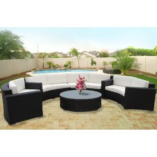 <strong>Modway</strong> Veranda 5 Piece Sectional Deep Seating Group with Cushions