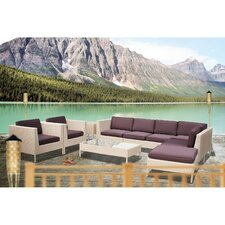 La Jolla 9 Piece Sectional Deep Seating Group with Cushions