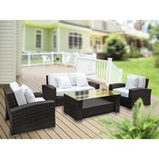 Carmel 4 Piece Deep Seating Group with Cushions