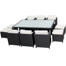 Reversal Outdoor 11 Piece Dining Set with Cushions