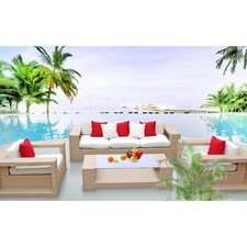 Aspire 4 Piece Deep Seating Group with Cushions