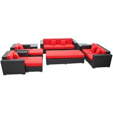 Eclipse 9 Piece Deep Seating Group with Cushions