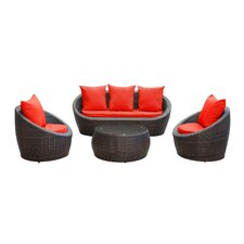 <strong>Modway</strong> 4 Piece Deep Seating Group with Cushions