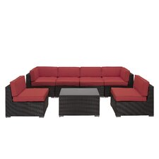 Aero 7 Piece Sectional Deep Seating Group with Cushions