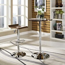 Portal Adjustable Height Dining Table with Optional Stools
