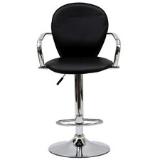 "<strong>Modway</strong> Captain 17"" Adjustable Bar Stool with Cushion"