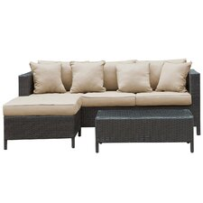 Urban 3 Piece Deep Seating Group with Cushions