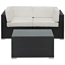 Camfora 3 Piece Sectional Seating Group with Cushion