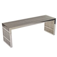<strong>Modway</strong> Gridiron Stainless Steel Bench