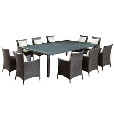 Landscape 11 Piece Outdoor Patio Dining Set