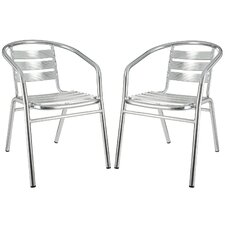 Perch Stacking Dining Arm Chair (Set of 2)