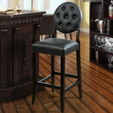"Button 29"" Bar Stool with Cushion"