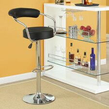 "Diner 24.5"" Adjustable Swivel Bar Stool with Cushion (Set of 2)"