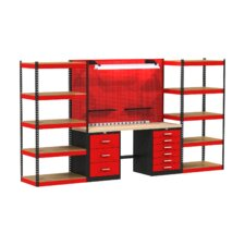 Fort Knox Open Storage Modular Wood Top Workbench