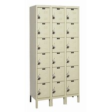 ReadyBuilt Three Wide Six Tier Locker  (Assembled) (Quick Ship)
