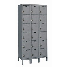 <strong>Hallowell</strong> ReadyBuilt Three Wide Six Tier Locker in Hallowell Gray (Quick Ship)