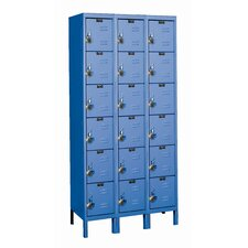 ReadyBuilt Three Wide Six Tier Locker in Marine Blue