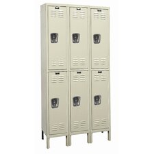Galvanite Locker Double Tier 3 Wide (Assembled) (Quick Ship)
