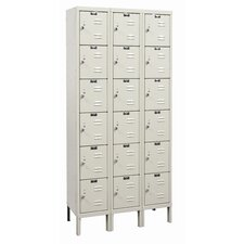 Galvanite 6 Tier 3 Wide School Locker