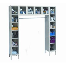ReadyBuilt Locker Double Tier 1 Wide (Assembled) (Quick Ship)