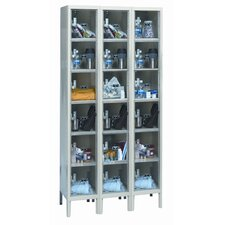 Safety-View Plus Stock Lockers - Six Tiers - 3 Sections (Unassembled)