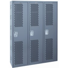 Welded Single-Point Ventilated Locker Single Tier 3 Wide (Quick Ship)