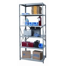 Hi-Tech Heavy-Duty Open Type 6 Shelf Shelving Unit Starter