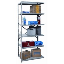 Hi-Tech Shelving Medium-Duty Open Type Add-on Unit with 6 Shelves