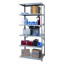 "Hi-Tech Extra Heavy-Duty Open Type 87"" H 6 Shelf Shelving Unit Add-on"