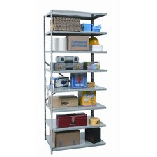 "Hi-Tech Extra Heavy-Duty Open Type 87"" H 8 Shelf Shelving Unit Add-on"