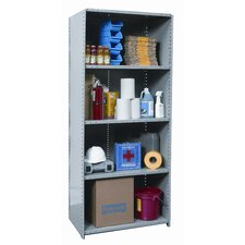 "Hi-Tech Shelving Medium-Duty Closed Type 87"" H 5 Shelf Shelving Unit"