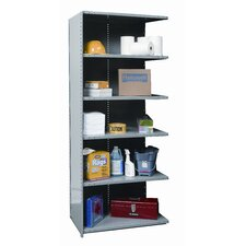 "Hi-Tech Medium-Duty Closed Type 87"" H 6 Shelf Shelving Unit Add-on"