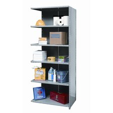 Hi-Tech Shelving Heavy-Duty Closed Type Add-on Unit with 6 Shelves