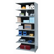 Hi-Tech Shelving Heavy-Duty Closed Type Add-on Unit with 8 Shelves