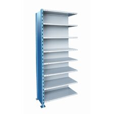 "H-Post Shelving 123"" High Capacity Closed Type Add-on Unit with 8 Shelves"