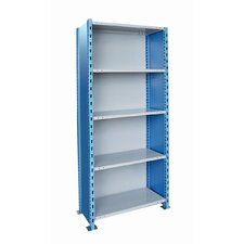 "H-Post Shelving 87"" High Capacity Closed Type Starter and Optional Add-on Unit with 5 Shelves"