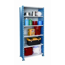"H-Post Shelving 123"" High Capacity Closed Type Starter Unit with 6 Shelves"