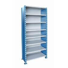 "<strong>Hallowell</strong> H-Post Shelving 123"" High Capacity Closed Type Starter Unit and Optional Add-on Unit with 8 Shelves"