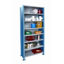 Hallowell High Capacity Closed H-Post Shelving, Add-on Unit with 8 Shelves